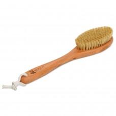 Щетка для массажа с  ручкой с щетиной кабана
